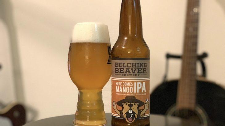 【1日1ビア】BELCHING BEAVER「Here Comes Mango IPA(ヒアカムズ マンゴー IPA)」を飲んだ
